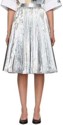 Calvin Klein Silver Pleated Skirt