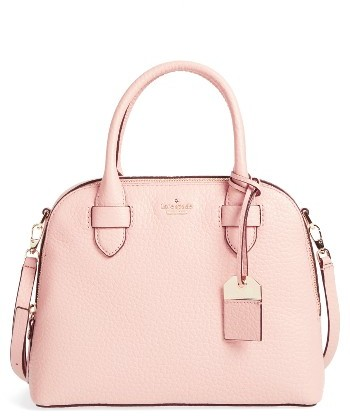 Kate Spade New York Carter Street - Small Ashleigh Leather Satchel - Beige