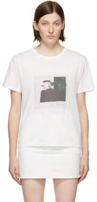 Saint Laurent White Lady Picture T-Shirt