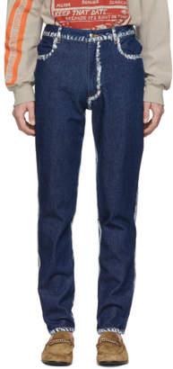 Eckhaus Latta Blue Seam Painting EL Jeans