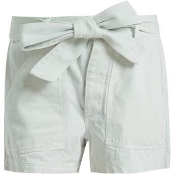 Merida high-rise denim shorts