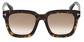Tom Ford Women's Sari 52MM Square Havana Sunglasses