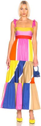 Silvia Tcherassi for FWRD El Prado Dress in Multi Bright Stripes | FWRD