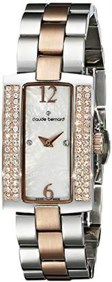 Claude Bernard Women's 20083 357R NAP Dress Code Quartz Analog Display Swiss Quartz Rose Gold Watch