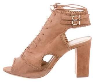 Alexandre Birman Peep-Toe Lace-Up Sandals