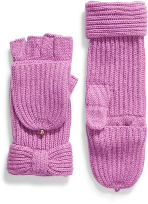 Kate Spade Solid Bow Pop Top Gloves