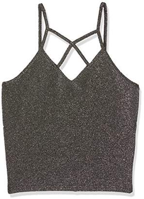 New Look 915 Girl's Lattice Strap Tank Top,(Manufacturer Size: 153)