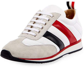 Thom Browne Men's Quilted Running Sneakers