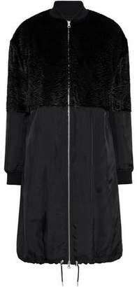 McQ Faux Fur-Paneled Shell Coat