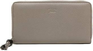 Gucci Zip Around Wallet Bamboo Tassel Grey