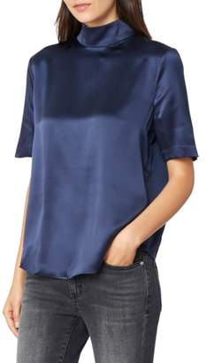Habitual Elsa Back Button Silk Blouse