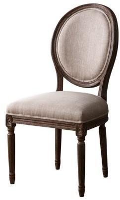Ralph Lauren Devon & Claire Wheat Linen Round Back Dining Chair
