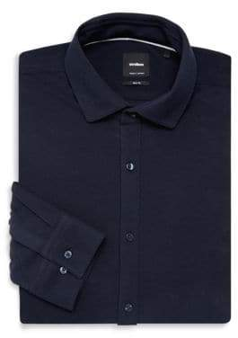 Strellson Solid Slim-Fit Dress Shirt