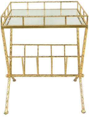 Sagebrook Home Metal and Glass End Table