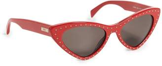 Moschino Women's Pointed Cat Eye Sunglasses