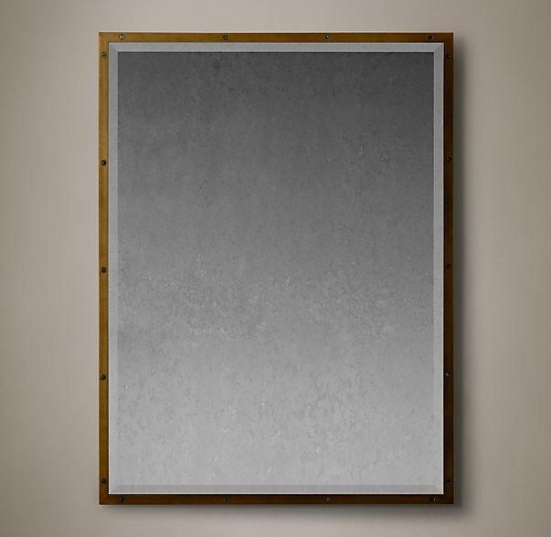 Bistro Antiqued Brass Mirror