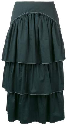 See by Chloe layered midi skirt