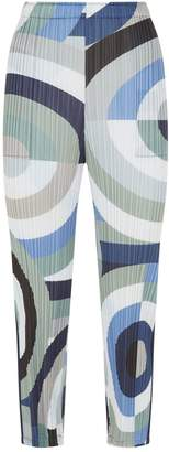 Pleats Please Geometric Straight Leg Plisse Trousers