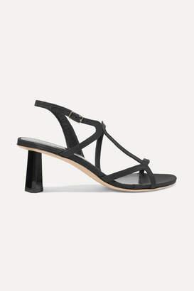 BY FAR Brigette Satin Slingback Sandals - Black