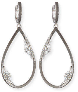 Jude Frances White Topaz Pear Drop Earrings