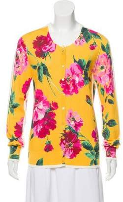 Dolce & Gabbana Floral Button-Up Cardigan