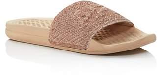 APL Athletic Propulsion Labs Women's Logo TechLoom Pool Slide Sandals