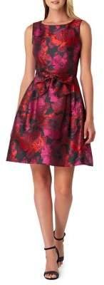 Tahari Arthur S. Levine Floral Jacquard Fit-&-Flare Dress