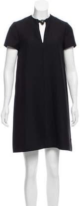 Valentino Panther Pendant Keyhole Mini Dress w/ Tags