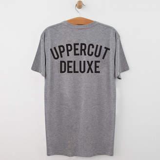 Uppercut Jersey T-Shirt - Grey/Black Print - S - Grey/Black