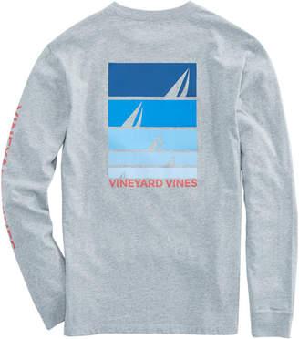 Vineyard Vines Long-Sleeve Sailing Blues Pocket T-Shirt