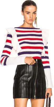 Philosophy di Lorenzo Serafini Striped Ruffle Sweater