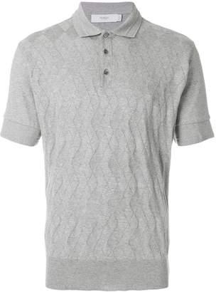Pringle argyle pattern polo shirt