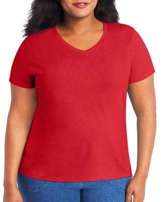 Hanes Women's X-Temp with Fresh IQ Short Sleeve V-neck