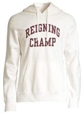 Reigning Champ Cotton Logo Hooded Sweatshirt