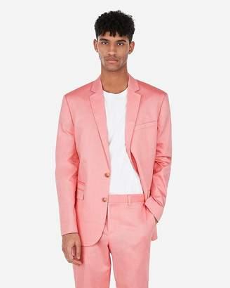 Express Slim Coral Cotton Oxford Stretch Suit Jacket