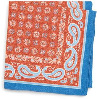 Southern Tide Bridgeport Bandana Cotton & Silk Pocket Square