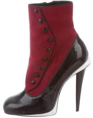 Fendi Leather Round-Toe Boots