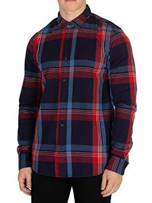 Scotch & Soda Men's Regular Fit Flanel Shirt in Bright Color Checks