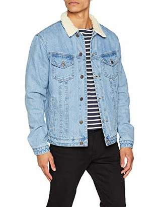Jack and Jones Men's Jjiedward Jjjacket Cr 077 STS Jacket, Blue Denim, XX-Large