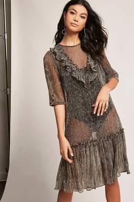 Forever 21 Sheer Metallic Dress