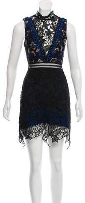 Self-Portrait Crochet Mini Dress