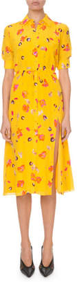 Altuzarra Short-Sleeve Floral-Print Shirtdress