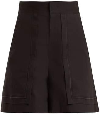 Isabel Marant Lucky high-rise cotton-blend shorts