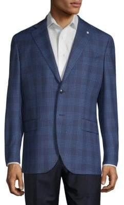 Lubiam Glen Check Wool Sportcoat