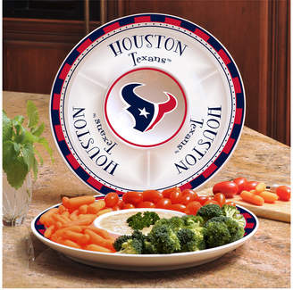 Memory Company Houston Texans Ceramic Round Chip & Dip Plate