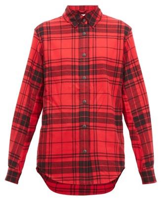 Aztech Mountain Loge Peak Checked Cotton Flannel Ski Shirt - Womens - Red