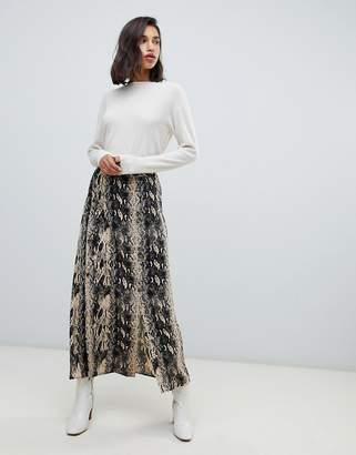 Vero Moda snake print midaxi skirt