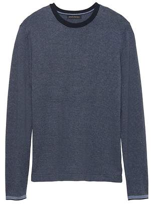 Silk Cotton Cashmere Stripe Sweater