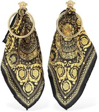 Versace Baroque Scarf Hoop Earrings