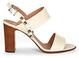 f67ed0eb38 Valentino Women's Rockstud Double Strap Leather Sandals